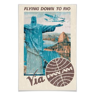 Poster PAN AM - Rio - Cristo Redentor am Zuckerberg