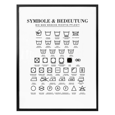 Poster - Symbole - Wie man Wäsche richtig pflegt