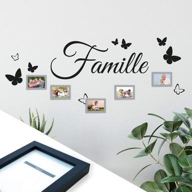 Wandtattoo Famille inkl. 5 Bilderrahmen