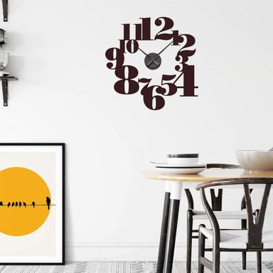 Wandtattoo + Uhr Typographie positiv Wanduhr