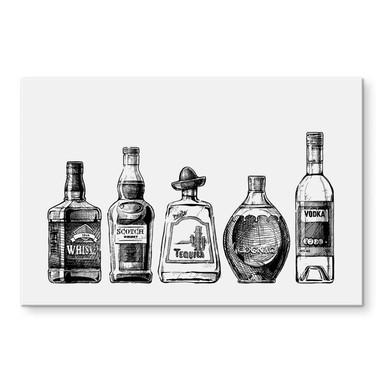 Acrylglasbild 5 Flaschen voll Spass