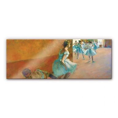 Acrylglasbild Degas - Tänzerinnen auf einer Treppe - Panorama