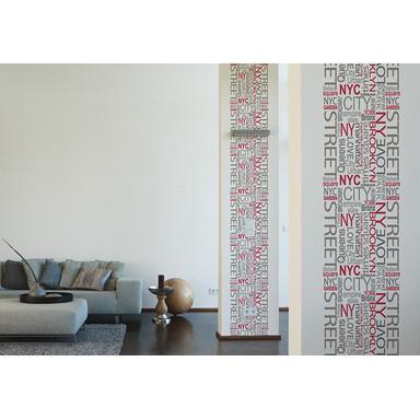 Dekopanele Livingwalls Dekopanel pop.up Panel Grau, Rot, Weiss