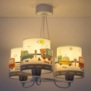 Kinderzimmer Pendelleuchte Baby Travel 3-flammig E27 floureszierend