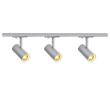 LED 1-Phasenschienen Set inkl. 3xSpott Noblo in Grau