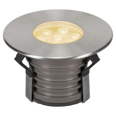 LED Bodeneinbauleuchte Dasar Premium, 3000K, 148 mm, IP67. Edelstahl 316. Aluminium, 60°