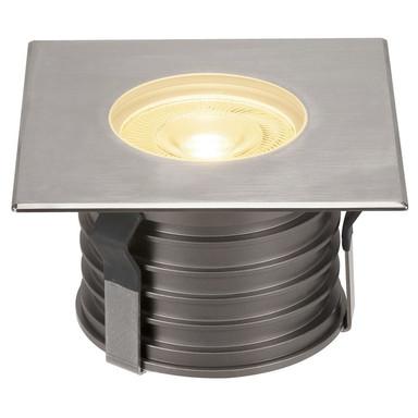 LED Eckige Bodeneinbauleuchte Dasar Premium, 177 mmx177 mm, IP67 Edelstahl 316. Aluminium, 38°, 177 mmx177 mm