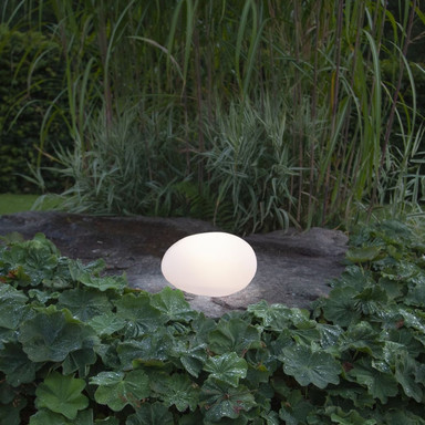 LED Solar Kugel Globy in Weiss IP44 180x320x260mm