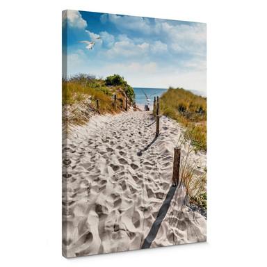 Leinwandbild Way to the Beach