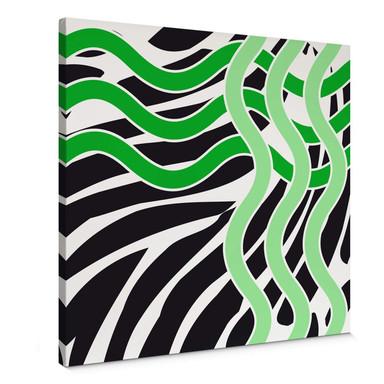 Leinwandbild Welle grün