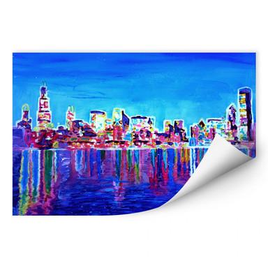 Wallprint Bleichner - Chicago im Neonschimmer