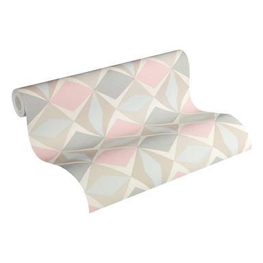 A.S. Création Vliestapete Scandinavian 2 Tapete geometrisch grafisch beige, grau, rosa