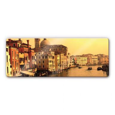 Glasbild Venedig Panorama
