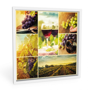Hartschaumbild Wein Collage - quadratisch