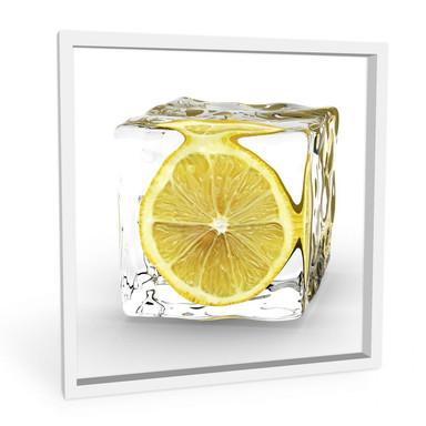 Hartschaumbild Zitroneneiswürfel
