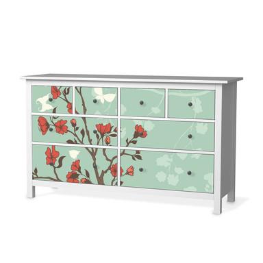 Möbelfolie IKEA Hemnes Kommode 8 Schubladen - Blütenzauber