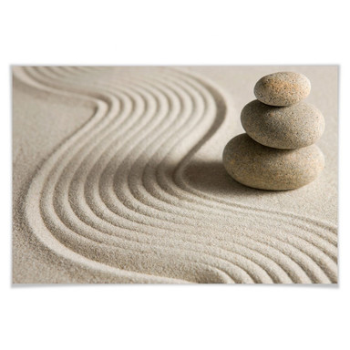 Poster Stone in Sand 2