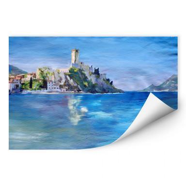 Wallprint Bleichner - Malcesine mit der Castello Scaligero