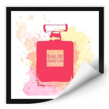 Wallprint Eau de Parfum Aquarell - Pink