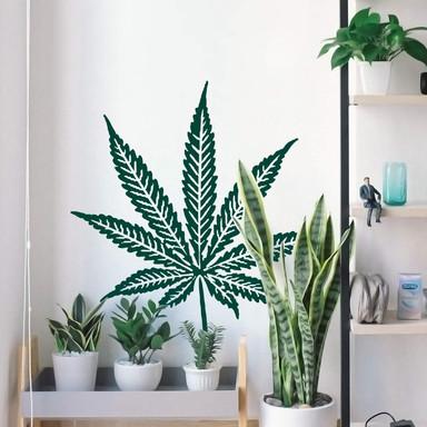 Wandtattoo Cannabis