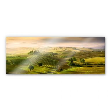 Acrylglasbild Bratkovic - Podere Belvedere - Panorama