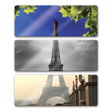 Glasbild Eiffelturm (3-teilig)