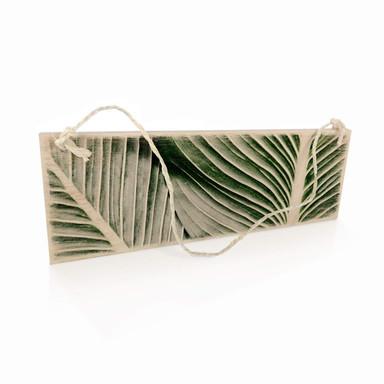 Holzschild Palmenblätter