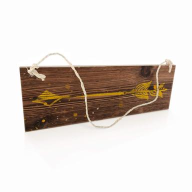Holzschild Pfeil Gelb