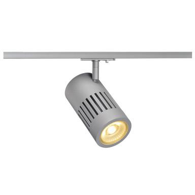 LED 1-Phasenschienen Spot Structec in Silbergrau 28W 2700K