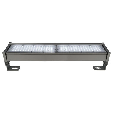 LED Fassadenstrahler Highbay Normae in Dunkelgrau und Transparent-Satiniert 90W 10790lm IP65