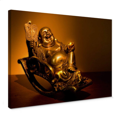 Leinwandbild Happy Buddha