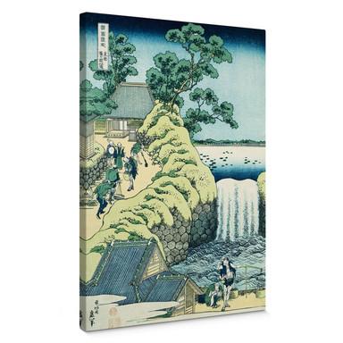 Leinwandbild Hokusai - Der Aoigaoka Wasserfall