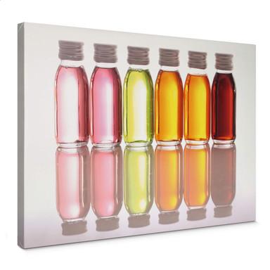 Leinwandbild Oil Bottles
