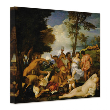 Leinwandbild Tizian - Das Bacchanal