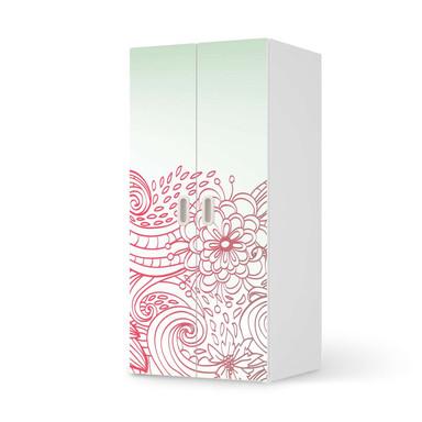 Möbelfolie IKEA Stuva / Fritids Schrank - 2 grosse Türen - Floral Doodle