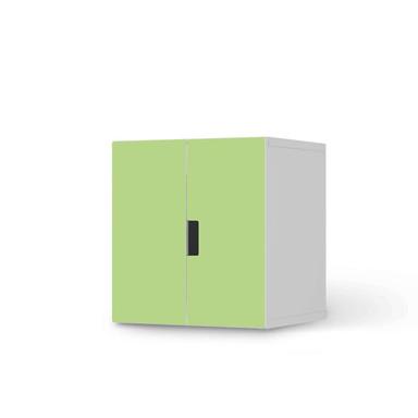 Möbelfolie IKEA Stuva / Malad Schrank - 2 kleine Türen - Hellgrün Light