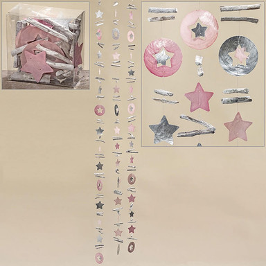 Muschelgirlande Sterne - Capiz Girlande