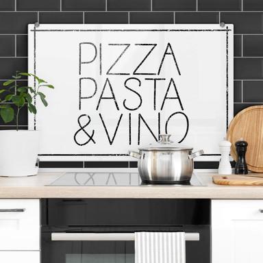 Spritzschutz Pizza Pasta & Vino weiss