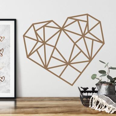Wandtattoo Origami Herz