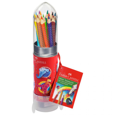 Faber-Castell Buntstifte Colour Grip - Malset Rakete