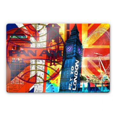 Glasbild PAN AM - London