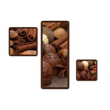 Glasbild Schokoladentraum 02 (3-teilig)