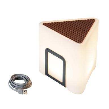 LED Akkuleuchte Kenga in Anthrazit und Weiss-Satiniert 3.2W 200lm IP44