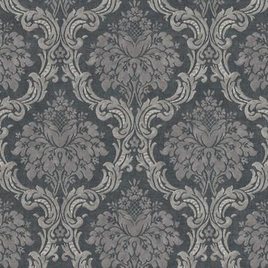 Livingwalls Vliestapete Paradise Garden Tapete mit Ornamenten barock schwarz, grau