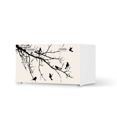 Möbelfolie IKEA Stuva / Fritids Bank mit Kasten - Tree and Birds 1