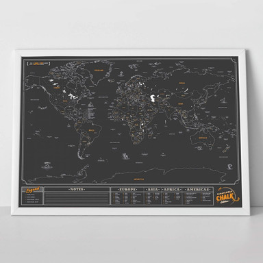 Scratch Map - Weltkarte - Tafel Edition - Bild 1