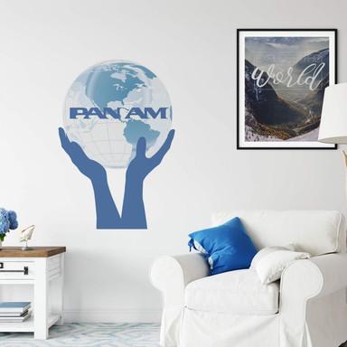 Wandtattoo PAN AM - Welt in Händen