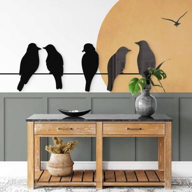 Acryldeko Vogel-Familie (5-teilig)