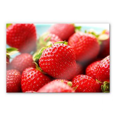 Acrylglasbild Erdbeeren aus dem Garten
