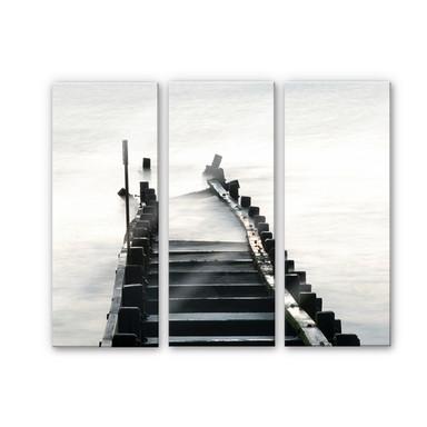 Acrylglasbild Way to nowhere (3-teilig)